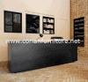Het acryl Stevige TegenBureau van de Ontvangst van het Hotel van het Bureau van de Kleur van de Oppervlakte Zwarte