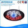 Oval de Hidly o sinal do diodo emissor de luz do bowling de América