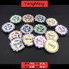 o póquer final da etiqueta 12g lasca as microplaquetas européias Ym-Cy02 do casino do laser da argila