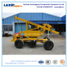 Maquinaria de la construcción de carreteras para la instalación del poste de la barandilla
