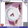 Relojes promocionales ocasionales de las mujeres de la voga Yxl-169 de señoras del reloj de la manera de la cebra de la lona de Japón Movt del cuarzo encantador más caliente del reloj