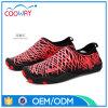 方法赤い水ウォーキング・シューズ通気性の伸縮性があるファブリック浜の靴