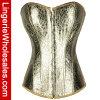 Mujeres corsé y ropa interior atractivos de oro