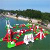 Sosta di galleggiamento gonfiabile gigante commerciale dell'acqua per gli sport di acqua
