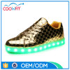 2017 Gold LED Kids Shoes Kids Summer Sports Running Shoes