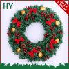 grinalda do Natal do PVC de 50cm com os ornamento para presentes de feriado