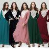 Mujeres Kaftan Abaya, vestido musulmán Islam Jilbab vestido largo (A942)