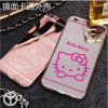 iPhone6 Phone Shell Apple 6s Mirror Plating Cartoon TPU + PC Phone Protection Cover Caso