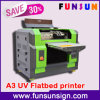 Plastic Glass Wood Carpet Marble Leather Printing를 위한 높은 Quality A3/A4 Size Multifunctional UV LED Flatbed Printer