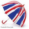 Guarda-chuva reto da abóbada do PVC do plástico com bandeira BRITÂNICA