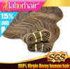 De bruine Inslag van het Menselijke Haar van het Lichaam van de Kleur Golvende