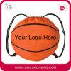 バスケットボール、フットボール、球形の鞍帯のドローストリング袋