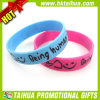 Твердое Color Silicone Bracelets с Debossed Color Filled (DSC05176)