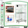 Logistischer Draht-Wäscherei-Rollenrahmen mit zwei Schwenker-Rädern