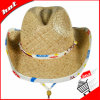 Sombrero clásico del sombrero de vaquero del sombrero de paja de la rafia