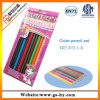 7  деревянных карандашей в бумажной коробке, выдвиженческий покрашенный установленный карандаш цвета 12PCS (HY-C001)