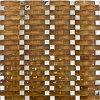 De bruine Reeks van de Boog van de Tegel van het Mozaïek van het Glas voor Van de Achtergrond muur Ontwerp