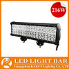 Vierfache Leitung Row 17  216W 15120lm CREE Offroad, 4X4 Vehicle LED Light Bars IP67