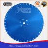 550mm Blad het Met geringe geluidssterkte van de Zaag van de Diamant van de Laser voor Steen