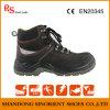 Sapatas de segurança de aço pretas, sapatas de segurança Malaysia da polícia Snn411