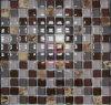 23*23*8大理石の組合せのガラスモザイク・タイル(CS054)