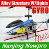 Hélicoptère du micro 22cm 3-Channel RC avec les pièces de rechange de Gyroscope+Alloy Structure+LED Lights+Free (NP0446)