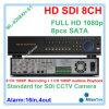 do carrinho cheio DVR do CCTV de 8CH gravação sozinha da câmera do CCTV do registrador HD SD1 HD 1080P HD Sdi com 8PCS SATA até 3tb cada um, Ml-9208xh-S1