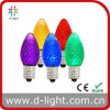 Multi-Color C9 Decorative diodo emissor de luz Lamp de 0.3W E17 Candle Small