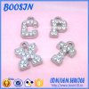 Rhinestone를 가진 공장 Cheap Custom Silver Zinc Alloy Letter Charm