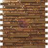 Mosaico di vetro della miscela di lusso del metallo (CFM715)
