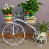 熱い販売3層の錬鉄の自転車の植木鉢の立場