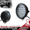 Nouvel Arrival 120W Round DEL Driving Light, DEL hors de Road Light pour ATV, UTV, Truck, 4X4 hors de Road Use contre 90With70With185W
