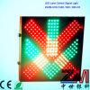 Sinal eletrônico da luz de sinal do controle da pista/diodo emissor de luz com cruz vermelha & a seta verde