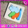 2015 brinquedos de madeira Parenting do enigma do elefante, projeto do elefante caçoam o brinquedo de madeira do enigma, do enigma de madeira do elefante da criança brinquedo Jigsaw W14A112