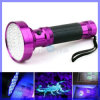 Nouveau Rose Rouge Aluminium 100 LED Blacklight Torche UV Scorpion Finder Nail Lamp AA Battery (LED100)