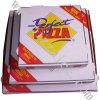 Weiß außen und natürlicher/Kraftpapier-Innenpizza-Kasten (CCB057)