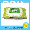 Tecido molhado por atacado de Coreia com a tampa plástica para as crianças (BW046)