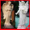 De Prachtige Steen die van het Meisje van de engel de Marmeren Standbeelden van het Beeldhouwwerk snijdt