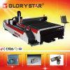 Cortadora del laser de la fibra de las hojas y de las pipas de metal de Glorystar