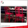 強いフレームの赤いラッカー現代喫茶店の椅子(NC-02)