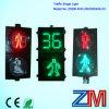 Красный & зеленый динамический пешеходный переход светофора с отметчиком времени комплекса предпусковых операций