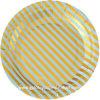 Talla redonda 7  y 9  de las placas de papel del postre
