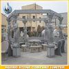 Decoração de pedra do jardim do Gazebo com cinzeladura