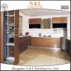 Gabinete de cozinha de madeira da mobília moderna de N&L com bancada do granito