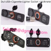 차 USB Charger Cigarette Lighter Socket와 Voltmeter