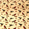 Fabbricato di modo del cotone della stampa degli uccelli