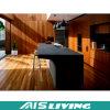 Melamin-Furnier-Blattküche-Schrank-Möbel für Landhaus (AIS-K309)