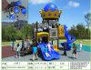 Campo de jogos temático do castelo de tamanho médio de Kaiqi com corrediças (XBSK0429F)