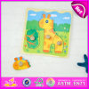 Kid、Cheap Giraffe Shape Wooden Puzzle Set Toy、Knobs W14m071のWooden Toy Puzzle Gameのための2015おかしいPlay Wooden Jigsaw Puzzle