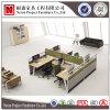 Partitions modulaires modernes de bureau, poste de travail de mélamine avec le renvoi de côté (NS-PT035)